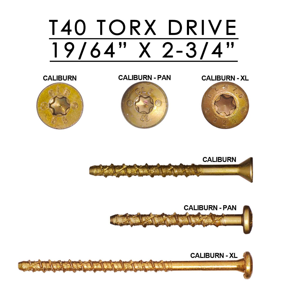 Caliburn Xl Concrete Screw 19 64 Quot X 2 3 4 Quot Cy Fasteners